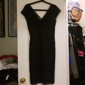 Beaded Lace Stretchy Dress